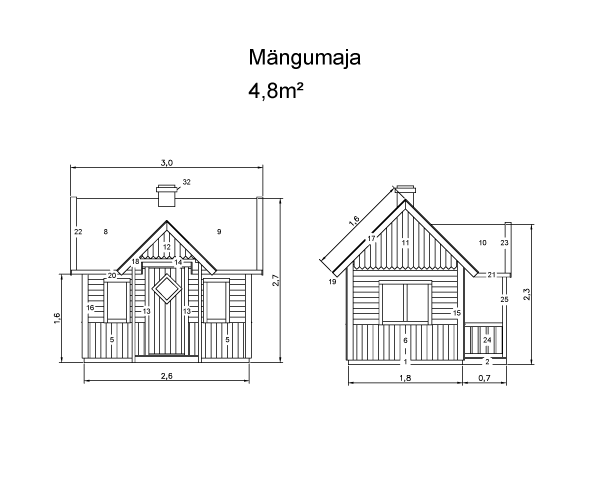 LASTEMAJA 5 m²
