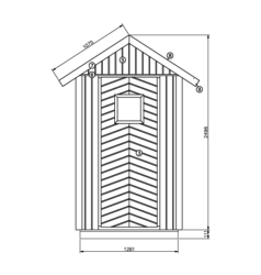 OUTDOOR TOILET 1,6 m²