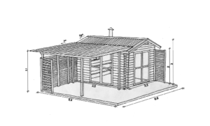ЛЕТНЯЯ КУХНЯ 3,3 × 3,5 + ТЕРРАСА 22 м²