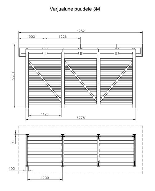 PUUKUUR  1,1 × 3,8 m