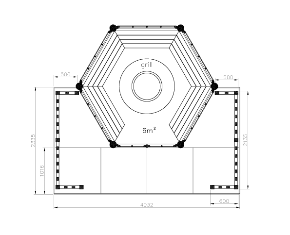TERRACES for hexagonal and octagonal buildings