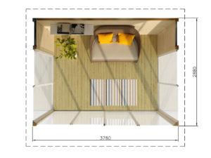 KLAASPAVILJON 11 m²